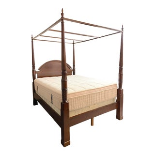 Bombay Company Mahogany Four Poster Bed With Canopy For Sale