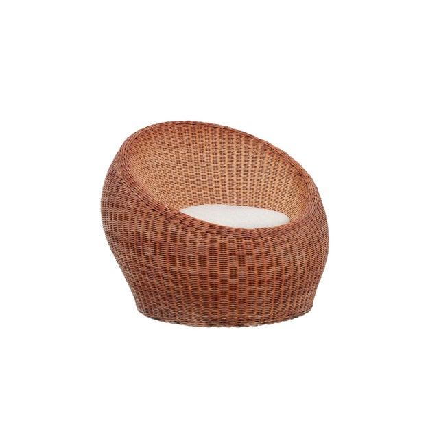 Boho Chic Isamu Kenmochi Rattan Lounge Chair For Sale - Image 3 of 13