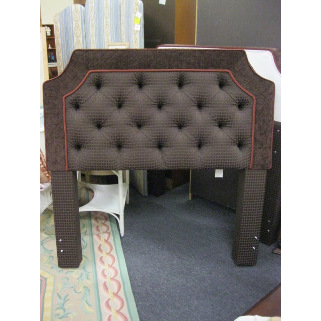 Custom Upholstered Full Size Headboards - Pair - Image 2 of 9