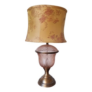 Jamie Young Glass Table Lamp With Shade For Sale