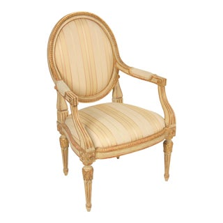 1990s Vintage Dennis and Leen Louis XVI Style Armchair For Sale