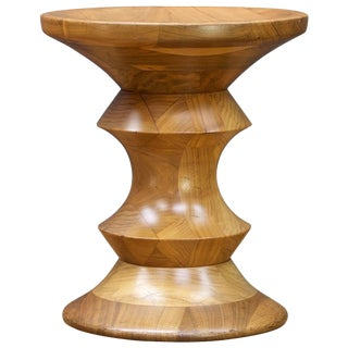 1970s Ray Eames Time Life Building Walnut Stool Table by Herman Miller Mad Men For Sale