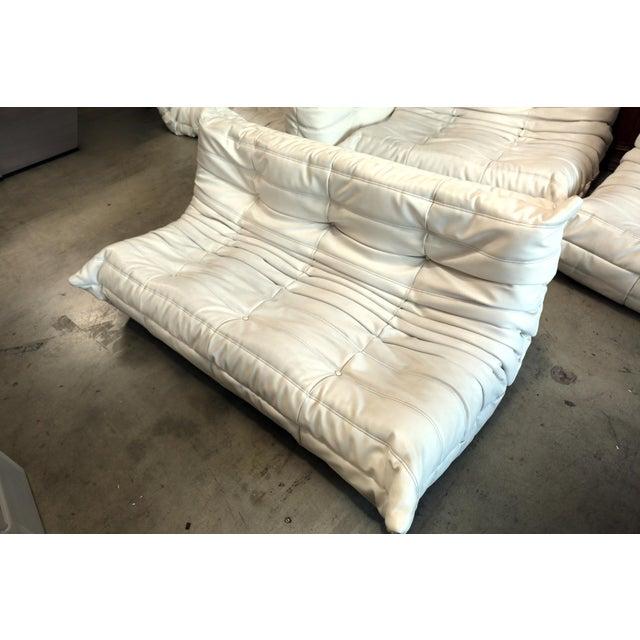 Vintage White Ligne Roset Togo Sofa Set Designed by Michel Ducaroy For Sale - Image 9 of 13