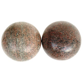 Large Decorative Granite Spheres - A Pair For Sale