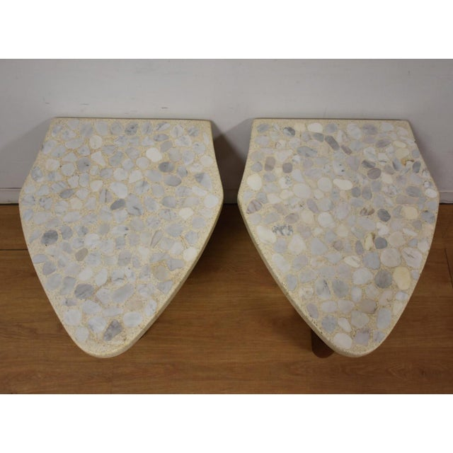 Modern Harvey Probber Terrazzo End Tables - A Pair For Sale - Image 3 of 11