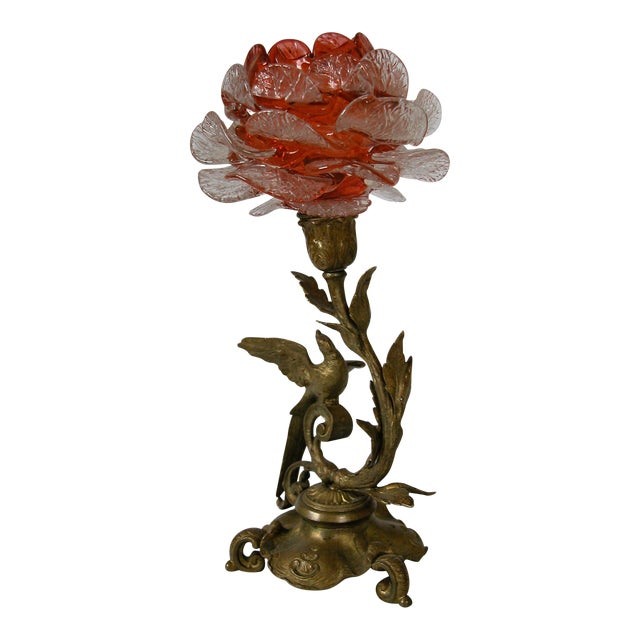 19th Century French Bronze & Glass Epergne - Image 1 of 8