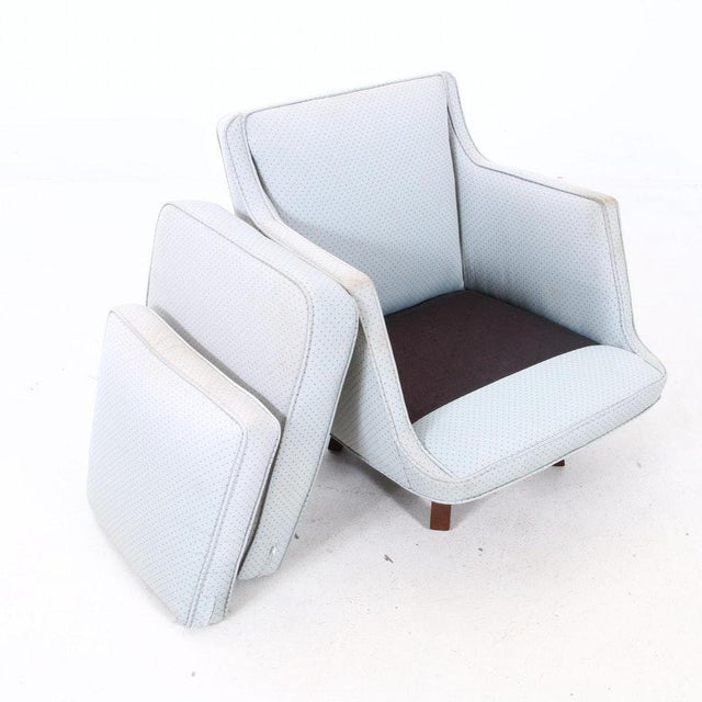 I have a Rare MCM Swivel Lounge Chair designed by Edward Wormley and produced by Dunbar, circa 1965. Excellent Condition:...