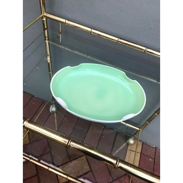 Vintage quatrefoil ceramic dish, painted the prettiest mint green. Use it in the entryway for things like keys and wallet,...