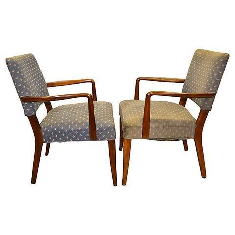 Fabric Finn Juhl Danish Armchairs - A Pair For Sale - Image 7 of 7
