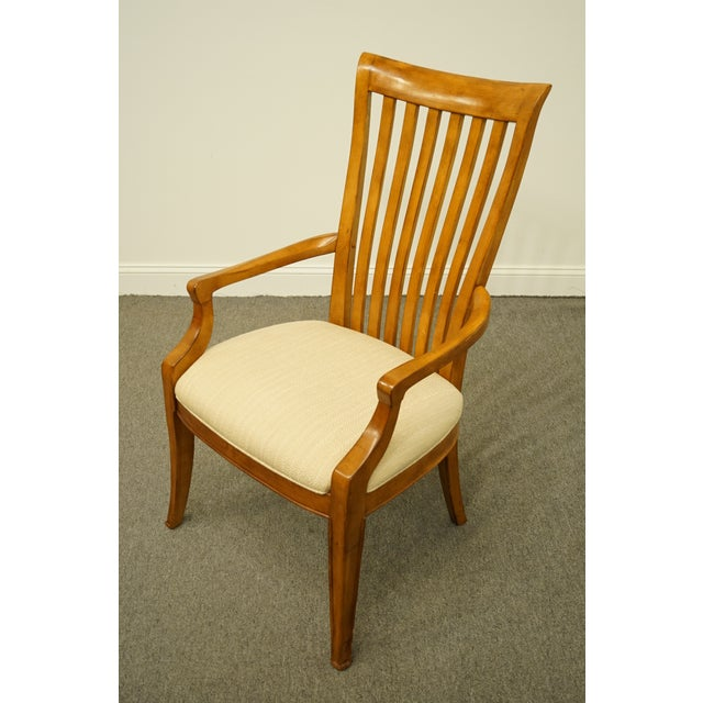 Thomasville Late 20th Century Thomasville Furniture Cinnamon Hill Collection Mission Style Dining Arm Chair For Sale - Image 4 of 11