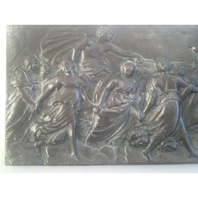 Italian Neoclassical Bronzed Relief R.O. Prof. G. Gambogi For Sale - Image 3 of 10