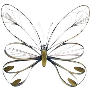 1970s Vintage Curtis Jere Butterfly Wall Sculpture For Sale