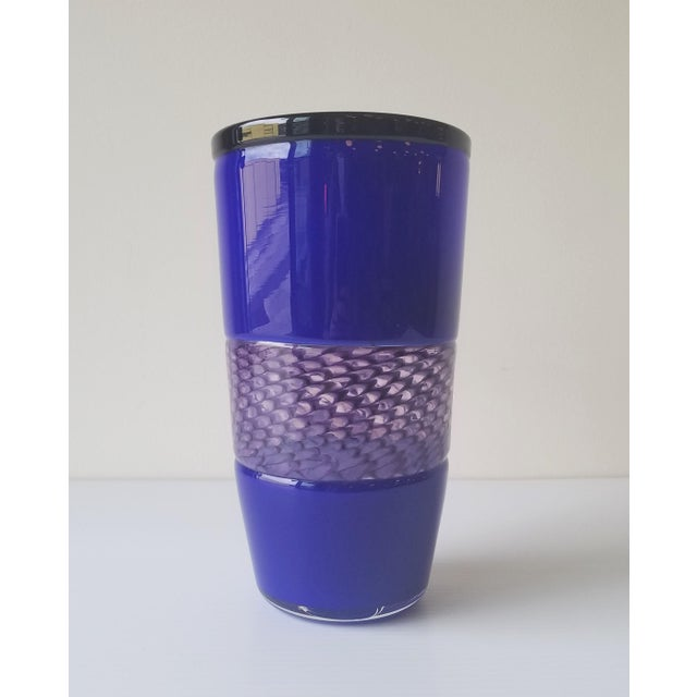 Contemporary Steve Gibbs Blown Glass Vase for Corning Museum of Glass For Sale - Image 3 of 13