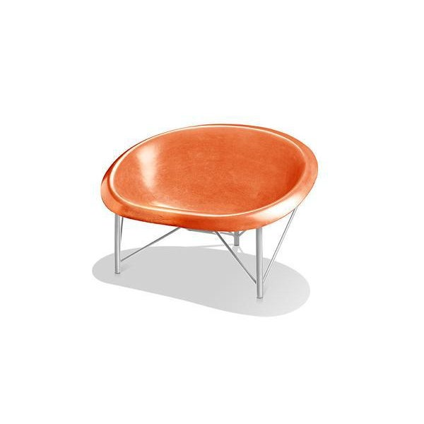 Heated Indoor/Outdoor Helios Chair in Silver & Orange For Sale - Image 4 of 4