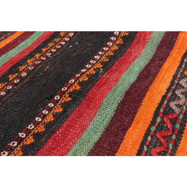 """QASHQAI Vintage Persian Kilim Rug, 5'1"""" x 11'0"""" feet - Image 2 of 3"""