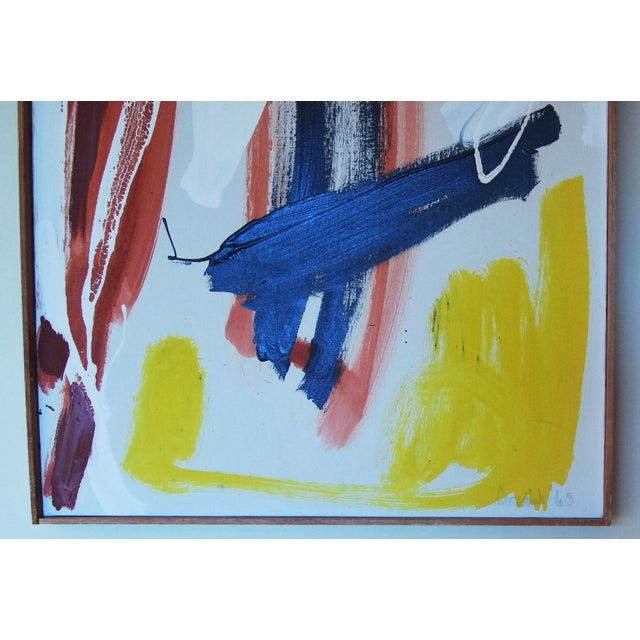 Originl Abstract Oil Painting Mid-Century Art - Image 4 of 5
