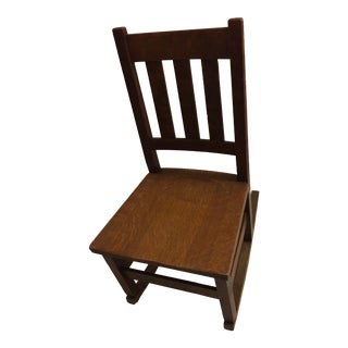 Arts & Crafts Style Old Oak Rocking Chair