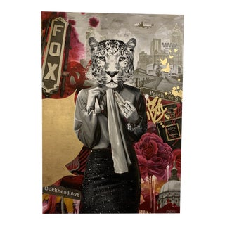 """""""Boss Lady"""" Contemporary Surrealist Mixed-Media Painting For Sale"""