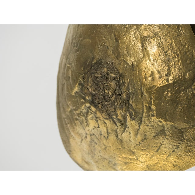 Brass Large Belgian Willy Daro Table Lamp in Brass and Bronze, 1970s For Sale - Image 8 of 13