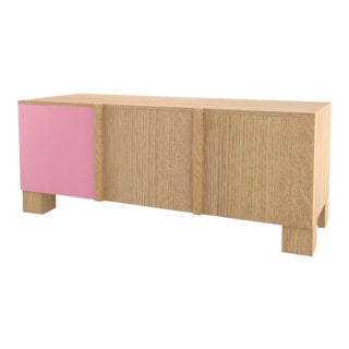 Contemporary 101C Storage in Oak and Pink by Orphan Work, 2020 For Sale