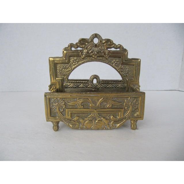 Hollywood Regency Vintage Brass Business Card Holder For Sale - Image 3 of 5
