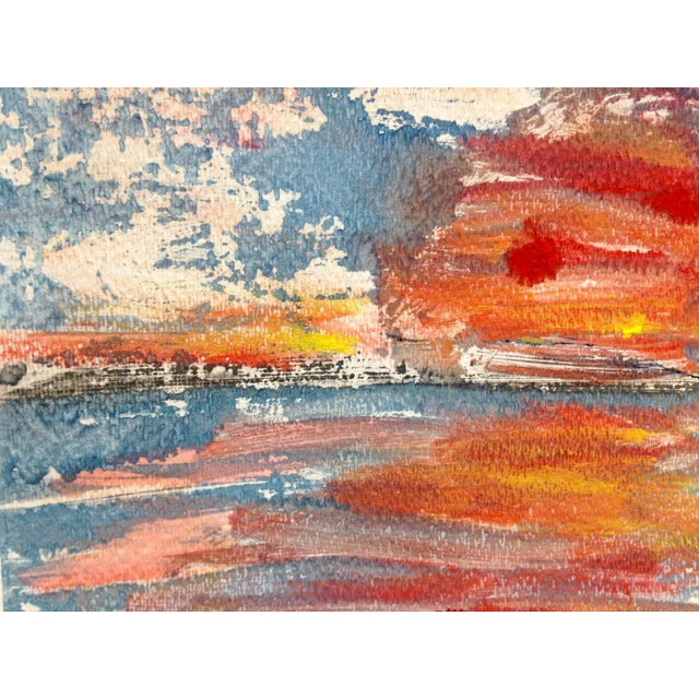 """Orange Sun"" Ink Print, 2016 - Image 2 of 4"
