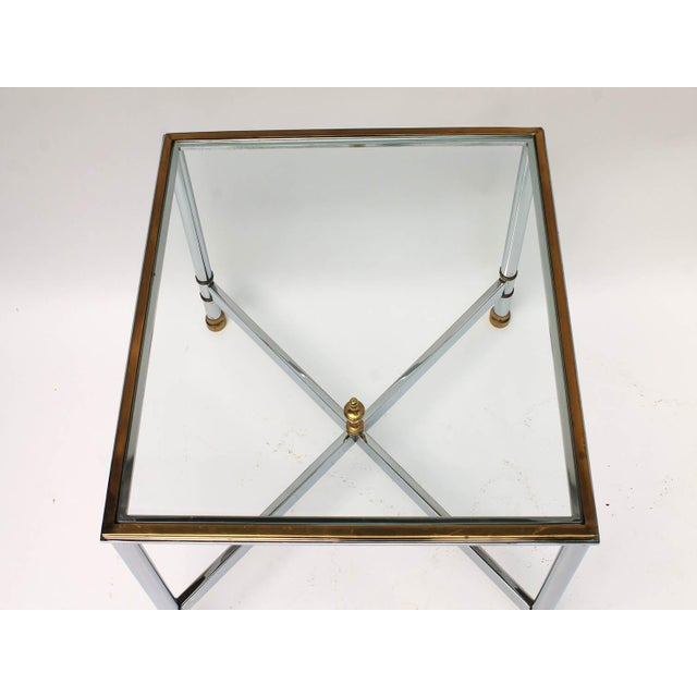Petite Brass & Steel Side Table - Image 8 of 8