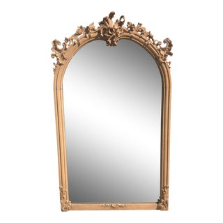Antique 19th C Gustavian Swedish Empire Beechwood Mirror For Sale