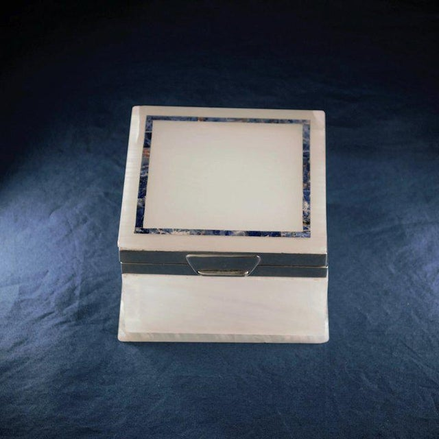 Lapis Inlay Onyx Box For Sale In Denver - Image 6 of 13