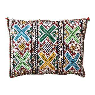 Moroccan Cross & Diamond Motif Pillow Sham For Sale