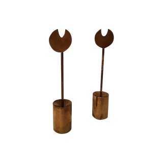 Pierre Forsell for Skultuna Candle Holders - A Pair