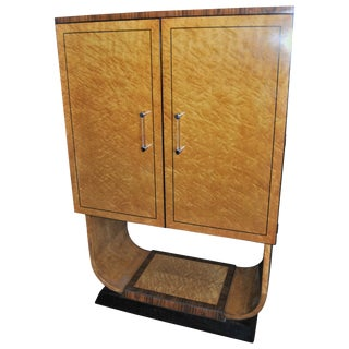 20th Century Bird's-Eye Maple and Rosewood Bar or Cabinet For Sale