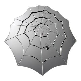 Barbini and Toffolo Murano Glass Spider Web Mirror For Sale