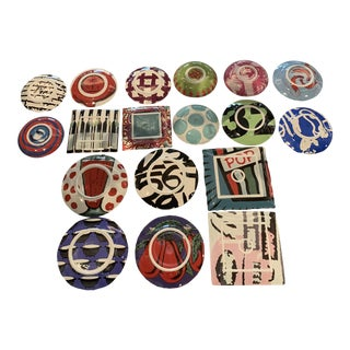 "Richard Ginori ""Metroquadro 3"" Dishes - Set of 18 For Sale"