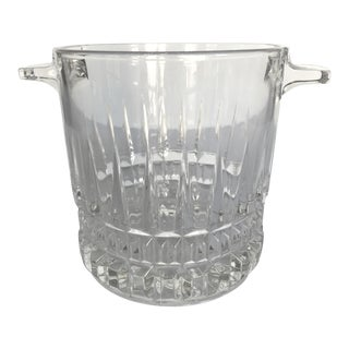 Vintage Vintage French Glass Ice Bucket For Sale