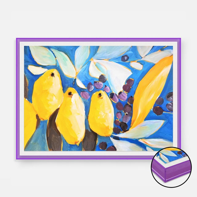 Contemporary IL Bosco by Lulu DK in Dark Purple Transparent Acrylic Shadowbox, XS Art Print For Sale - Image 3 of 3