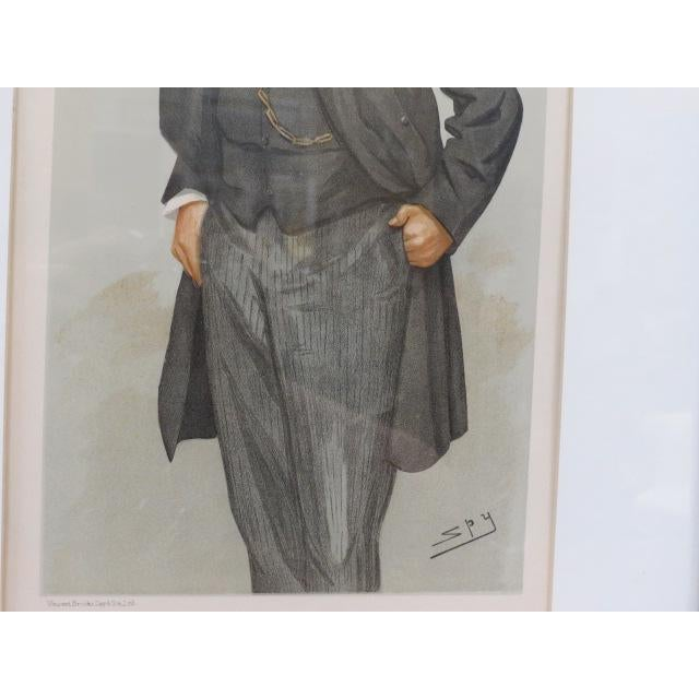 Late 19th Century 1896 Antique Vanity Fair Men of the Day Lithograph Print For Sale - Image 5 of 7