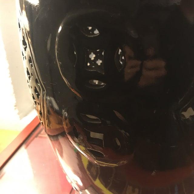 Black Asian Porcelain Stool - Image 4 of 8