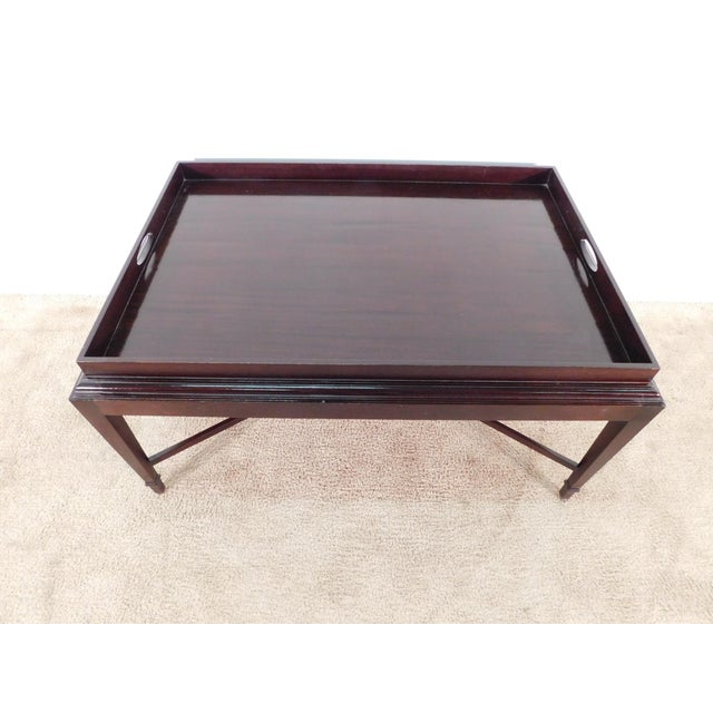 Barbara Barry For Baker Furniture Company java finish coffee cocktail table. Offered in overall excellent, gently pre-...