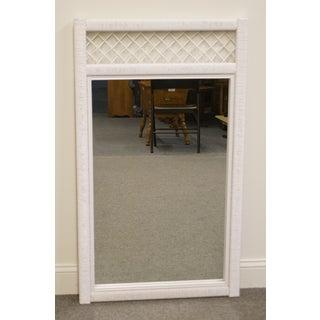 Lexington / Henry Link White Wicker Dresser / Wall Mirror Preview