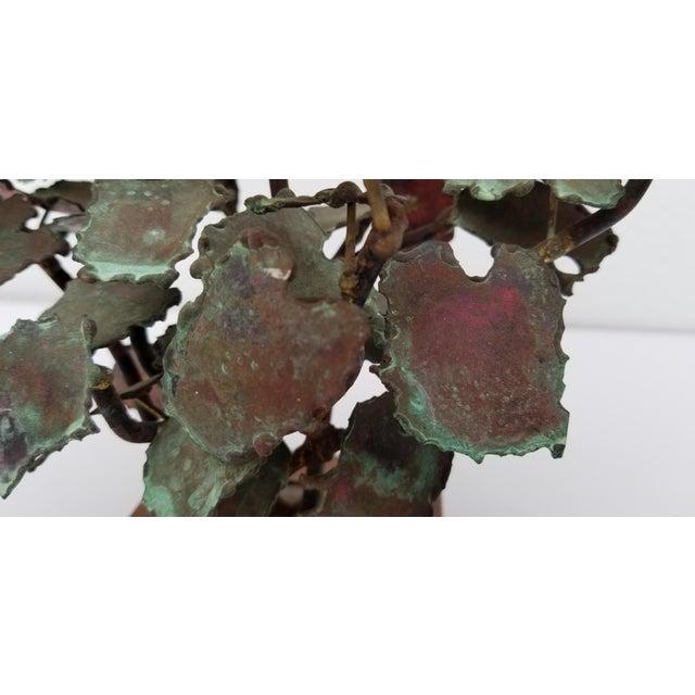 Copper 1970s Vintage Copper Plant Table Sculpture For Sale - Image 8 of 9