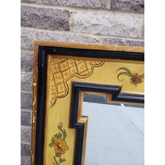 Vintage Italian Hand Painted Mirror For Sale In New York - Image 6 of 13