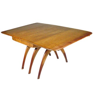 Heywood-Wakefield Butterfly Drop-Leaf Wishbone Dining Table For Sale