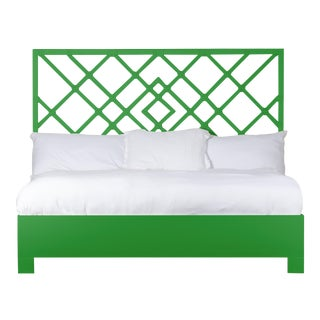 Darien Bed King - Bright Green For Sale