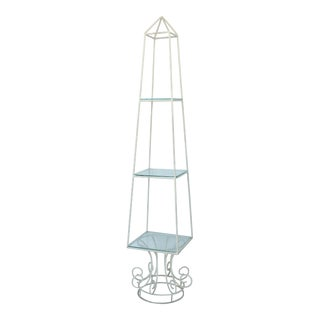 Mid-Century Garden Obelisk Form Etagere For Sale