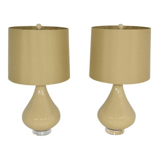 Ceramic Lamps - A Pair For Sale