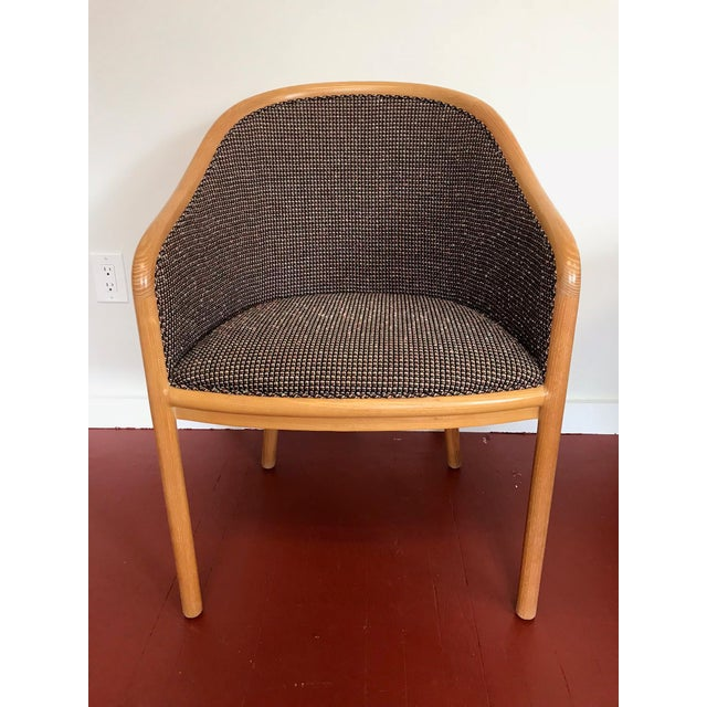 "Ward Bennett for Brickel Associates (Now Geiger) ""Landmark Chair"" From Herman Miller - Set of 6 For Sale - Image 10 of 11"