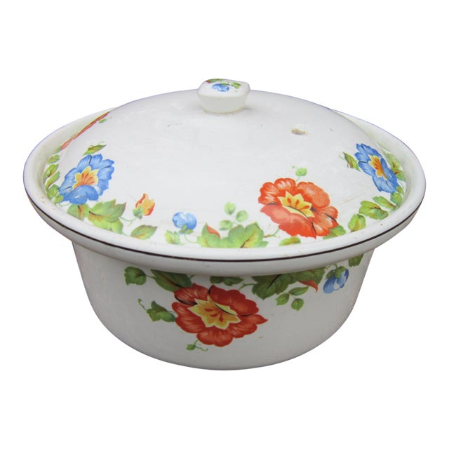 Columbia Chinaware Harker Floral Baking Casserole Dish / Canister For Sale