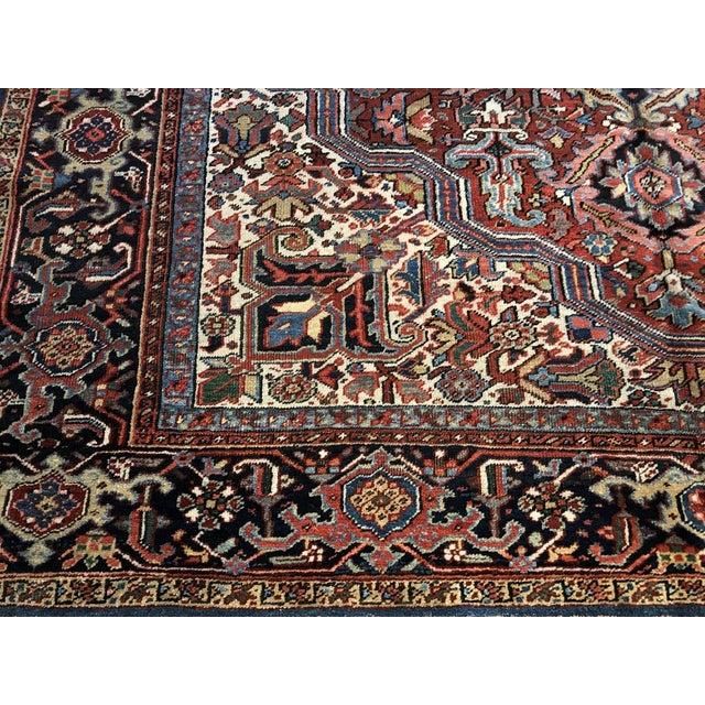 Antique Persian Heriz Rug - 8′10″ × 11′7″ For Sale - Image 4 of 7
