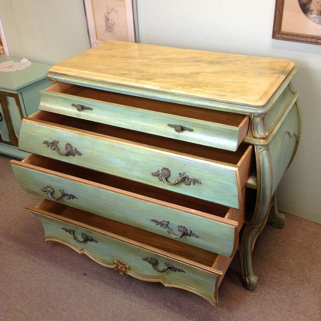 Large Light Green Painted Chest - Image 5 of 8